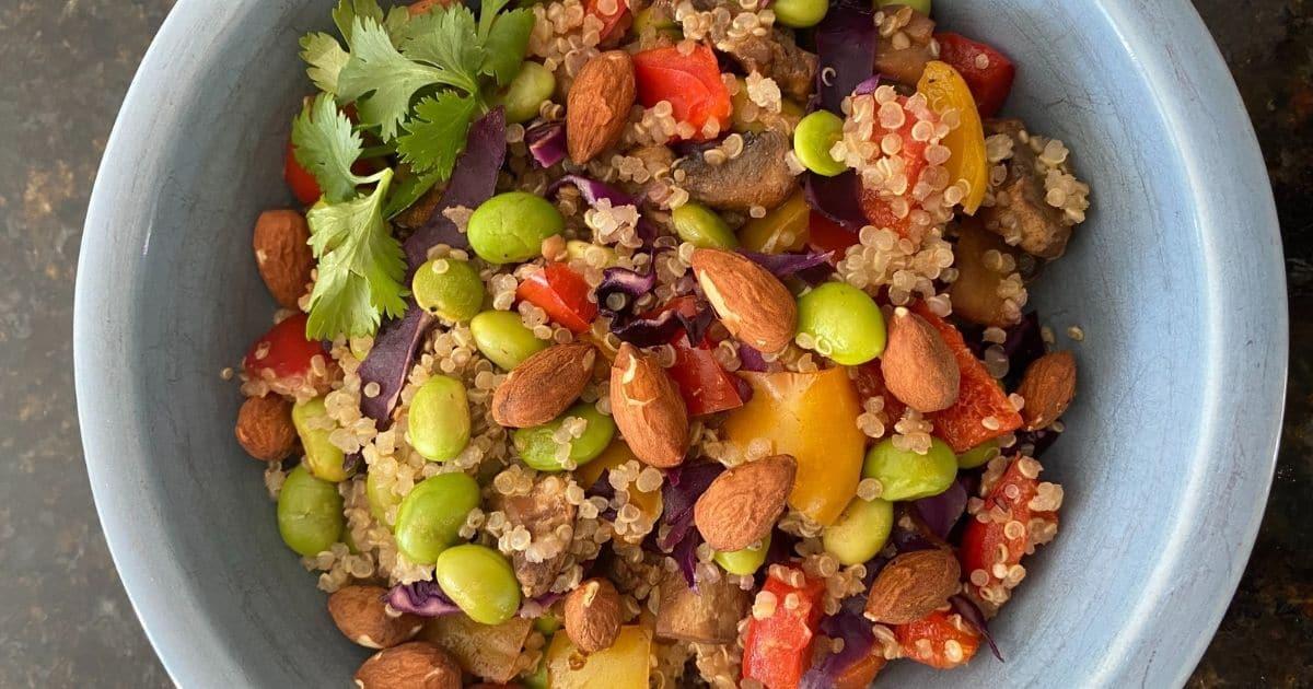 Kidney-friendly Ginger LIme Power Salad